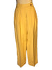 Front view of yellow linen women's trousers by Sonia Rykiel