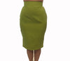 Thierry Mugler 1980s Lime Green Pencil Skirt