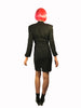 "Thierry Mugler Couture 1980s Abstract ""Flame"" Applique Long Sleeve Mini Dress"