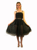 Jiki Monte Carlo Sheer Black Circle Skirt w/ Sequins