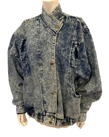 1980s Unisex Acid Wash Denim Jacket