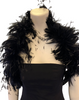 Vintage Feather & Black Sequin Boa