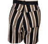 1990s Sostanza Blue and White striped shorts