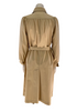 Back view of mannequin in a 1970s Beige Trench Coat with a round yoke and pointed collar