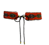 Hand Beaded Front Tie Belt