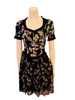 Blumarine Black & Purple Floral Dress