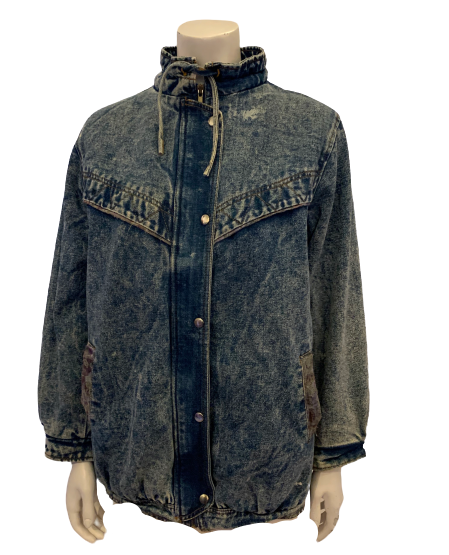 1980s Unisex Faded Glory Insulated Acid Wash Jacket