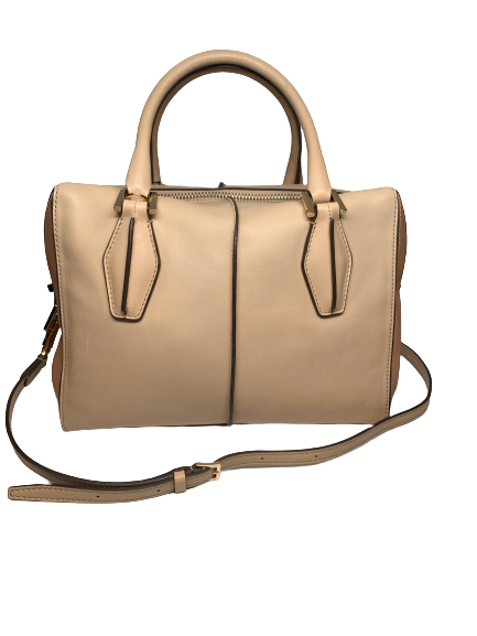 Tod's Beige Two Tone Leather Handbag