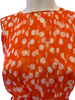 Rena Lange Bubble Cape  Orange & White Polka Dot Dress