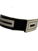 1980s Escada Black & White Leather Waist Belt