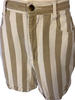 1980s Bennini Beige & White Striped Shorts