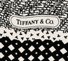 Tiffany & Co 1970s Black and White Mix Pattern Scarf