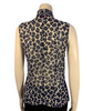 Emanuel Ungaro Collection Sheer Leopard Print Pussycat Bow Blouse