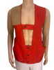 Mens 1960s Red Utility Vest