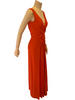 1970s Robert David Morton Coral Maxi Dress