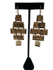 1980s does 1960s Gradient Square Chandelier Earrings