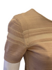 Christian Lacroix Short Sleeve Horizontal Stripe Camel Sweater