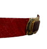 1980s Judith Leiber Red Snakeskin Belt with Stone Buckle