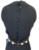 Donald Brooks 1960s Vintage Dress w Attached Gorgeous Beaded Chain Belt