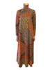1970s Bill Tice for Royal Floral Zip Front Maxi Dress