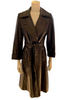 1970s Dark Brown Leather Trench Coat