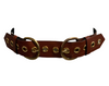 Yves Saint Laurent Rive Gauche Rust Leather Double Buckle Belt