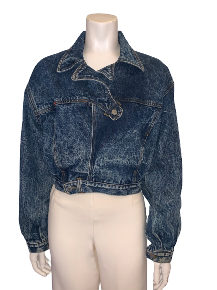 1980s Jordache Acid Wash Cropped Denim Jacket