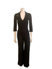 Y2K Black Straight Leg Racing Jumpsuit