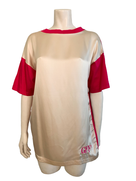 Gianfranco Ferre Dual Pink Silk & Cotton Tee