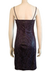 1990s Purple Snake Print Body Con Dress
