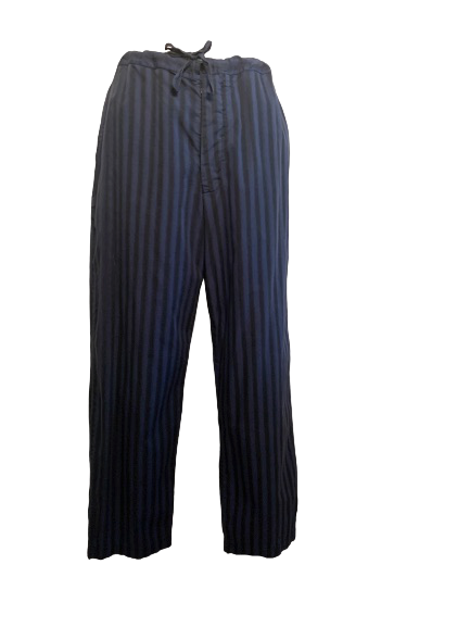 Romeo Gigli 1990s Unisex Striped Drawstring Pants