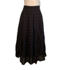 Haat by Issey Miyake Plaid Skirt with Ruched Hem