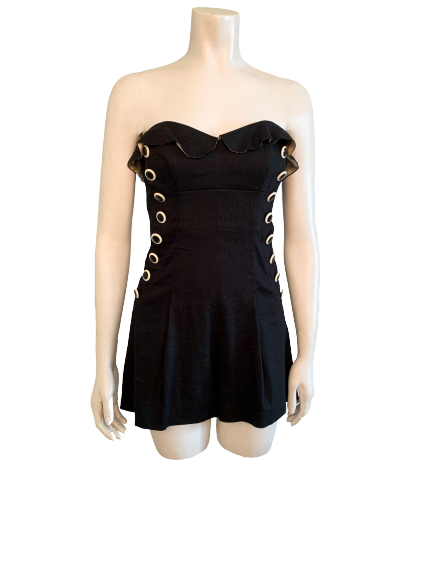 00s Betsey Johnson Pin Up Romper