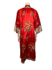 1960s Chinese Red Silk Embroidered Tunic