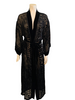 1980s Black Velvet Burnout Robe