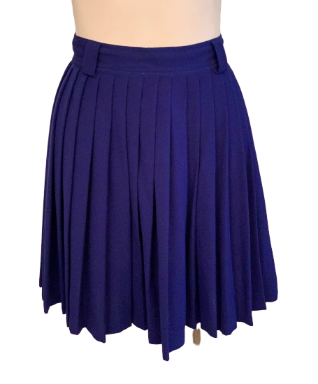 Gianni Versace 1990s Pleated Cobalt Blue Skirt