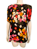 Valentino Garavani 1980s Draped Silk Floral Top