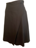 Helmut Lang 1990s Draped Black Aline Skirt