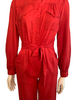 1980s Red Military Style Jumpsuit