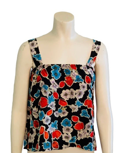 1980s Floral Silk Camisole