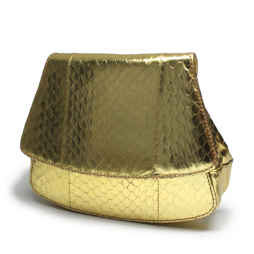 Prada Gold Snake Evening Bag