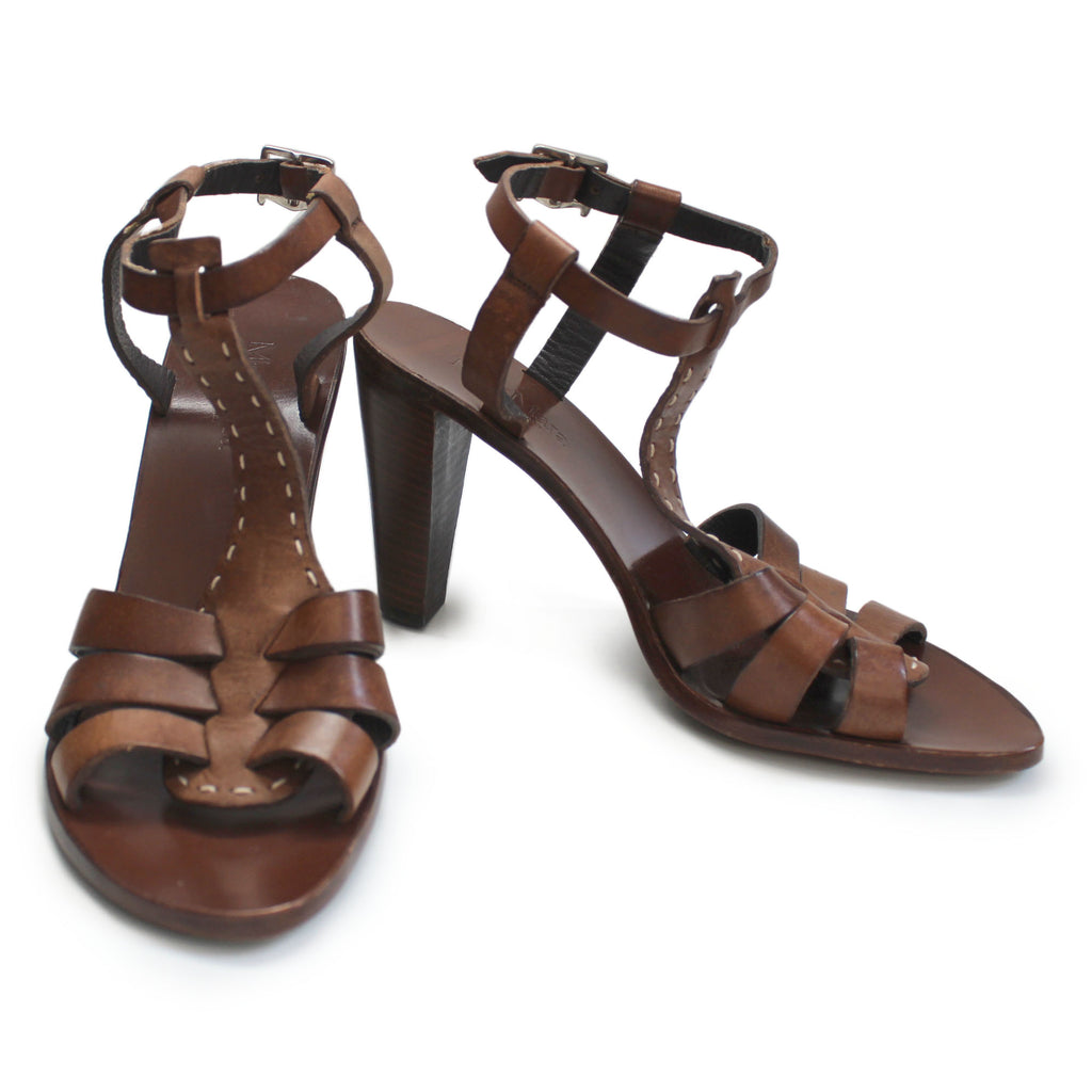 Max Mara Brown Leather Chunky Sandal