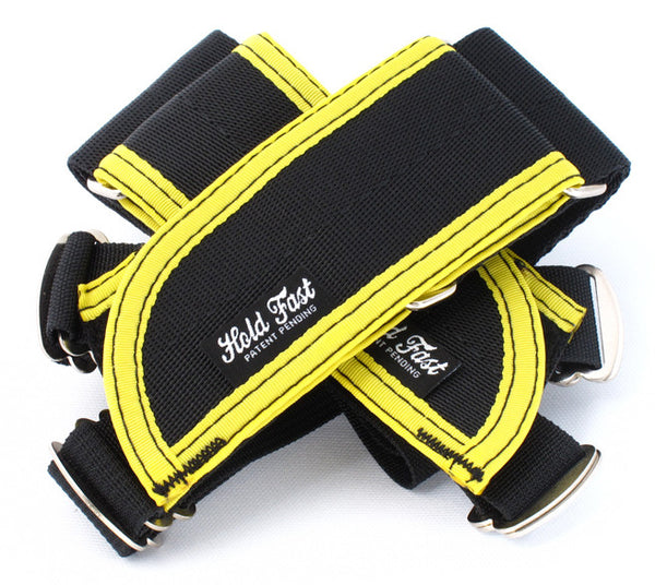 Hold Fast /// Straps /// Black/Yellow Binding