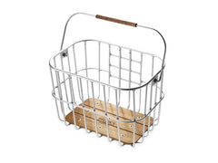 Brooks /// Hoxton Wire Basket w/Wooden Base (click-fix mount included)