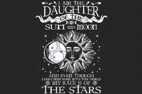 I am the daughter SVG, DXF, EPS, PNG files