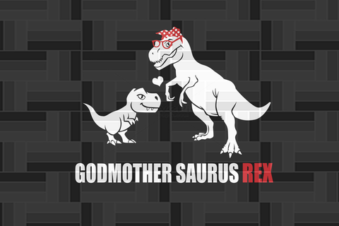 Godmother saurus rex SVG EPS PNG DXF PDF