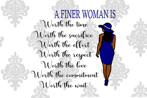 A finer woman is, zeta phi beta sorority, PNG, DXF, EPS, PDF, SVG