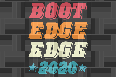 Boot edge edge 2020 SVG EPS PNG DXF PDF