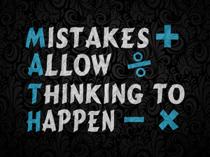 Mistakes allow thinking to happen SVG EPS PNG DXF PDF