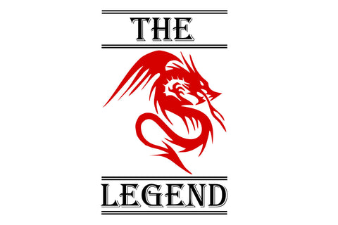 The legend  SVG EPS PNG DXF PDF